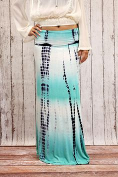 Tie Dye Maxi Skirt Aqua Tie Dye Maxi, Tie Dye Skirt, Aqua, My Style, Skirts, Closet, Shoes, Fashion, Moda