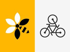 Motif with recurring pattern/shape in logo design | BeeBank Development and Cycling Association Logos