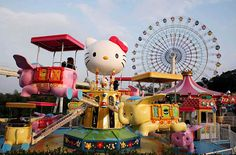 On the island of Kyushu in Japan, there is a theme park dedicated to the brand Hello Kitty.I want to go!!