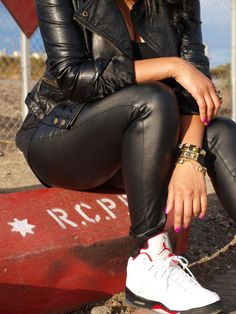 Retro Jordans worn by a girl is the perfect way to capture Tom boy style   beyondherreality.com