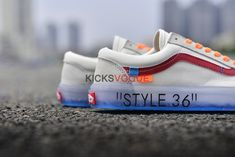 1ef6aaa633b Custom Off-White x Vans Style 36 Marshmallow Racing Red Ice Blue Sole