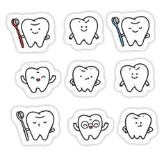 """Funny teeth"" Stickers by Anna Alekseeva"