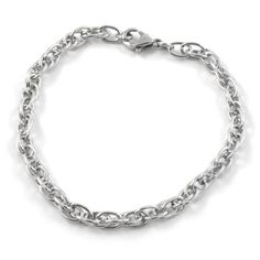 Buy Fort Tempus - Silver Casual Steel Bracelet for only Shop at Trendhim and get returns. Pearl Bracelet, Bracelet Making, Bracelets For Men, Link Bracelets, Beaded Bracelets, Bracelet Cuir, En Stock, Colorful Bracelets, Bracelets