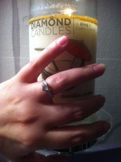 Diamond Candles, a ring in every candle.