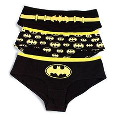 ThinkGeek :: Batgirl Glow-in-the-Dark Hipster Panties, 3 Pack (I think they only go up to a 42 hip)