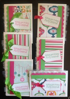 A personal favorite from my Etsy shop https://www.etsy.com/listing/244445368/cute-handmade-christmas-cards-pink-green