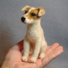 Jack Russell Terrier Custom Dog Art Needle Felted Sculpture - Custom Jack Russell Terrier Dog And Pet Portrait Sculptures Are Individually Hand Needle Felted By Me Using Your Own Dog Or Pet Photographs Price Is Per Sculpture The Listing Photo Shows Sample Jack Russell Terriers, Needle Felted Animals, Felt Animals, Cute Animals, Needle Felting Kits, Sleeping Fox, Dog Sculpture, Sculptures, Pet Photographer