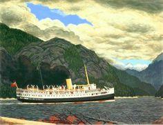 EJ Hughes ~ Steamer in Grenville Channel