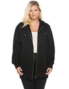 5ecb6c3255c2b Involand Women Casual Zip up Fleece Hoodies Tunic Sweatshirt Long Hoodie  Jacket
