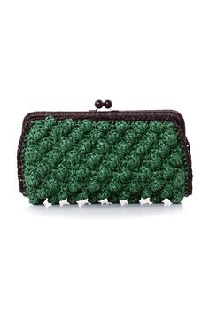 #MMissoni Accessories | #Raffia effect chestnut gemini clutch | Summer 2014 Collection