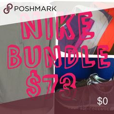 7 items total in Nike Bundle Deal A Dri-Fit Nike long sleeve, three Nike sports bras, and one pair of Nike shoes for only $73. Shoes come with a pair of Reebock socks 😊 In addition, with any purchase you get to pick any of my $5 or less items for free. 7 items total for $73! Individual items and details are listed below. Put them in a bundle then comment which $5 or less item you want to add on!😘 Other