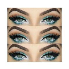 31 Pretty Eye Makeup Looks for Green Eyes ❤ liked on Polyvore featuring beauty products