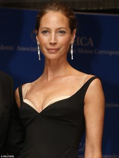 Lovely lady: On Saturday night at the White House Correspondents' Dinner in Washington DC, Christy Turlington proved she still has it