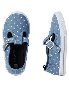 Toddler Girl Carter's Polka Dot Mary Jane Sneakers | Carters.com