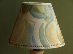 Hand-painted Bloomsbury inspired Charleston Farmhouse lampshade