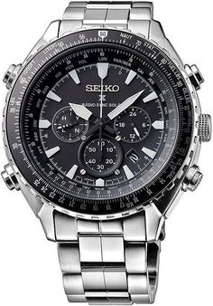 Seiko Mens SSG001 Radio Sync Prospex Chronograph Stainless Steel 48mm Watch