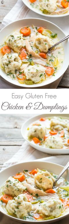Gluten Free Chicken and Dumplings   Dinner doesn't get any better than this! It's Perfect Comfort Food!