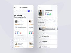 Hire Professional - Mobile App by Nasim for Ofspace Team on Dribbble