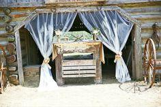 Rustic wedding alter