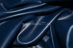 Кожзам 408031003. п/э-эластан ш 140 Италия мягкая пластичная искусственная кожа цвет темно-синий. 600