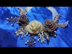"""Колье """"Царственные розы"""". Часть 3/Necklace """"The Royal Rose."""" Part 3 - YouTube"""