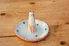 Your place to buy and sell all things handmade Ring Holders, Jewelry Holder, Shops, Cat Ring, Animal Rings, Year 7, Ceramic Figures, Ring Dish, The Dish