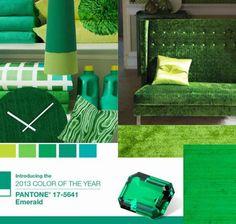 Esmeralda: Enérgica Paleta de Color para este 2013 Color Of Life, Color Of The Year, Outdoor Furniture, Outdoor Decor, Pantone, Storage, Wall, Wedding Ideas, Colour