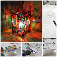 diy stain glass luminary