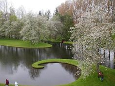 Garden of Cosmic Speculation, open once a year.  Designed by Charles Jencks, the 30 acre garden encompasses the theorist and landscape architects Portrack House just southwest of Dumfries in the lush Borders area of Scotland.
