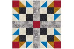 """Learn How to Sew Colorful 14"""" Square Tea Rose Quilt Blocks: Make 14"""" Square Tea Rose Quilt Blocks"""