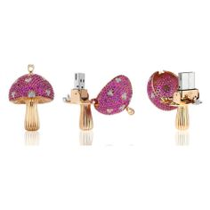 Love the idea of this luxury usb hidden inside the magic mushroom pendant by La Maison Shawish, a Swiss jewelry maker. Usb, Most Expensive, Pink Sapphire, Geek Stuff, Fun Stuff, Fine Jewelry, Jewellery, Stuffed Mushrooms, Magic