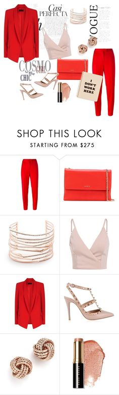 """""""Red badass outfit"""" by crazydam ❤ liked on Polyvore featuring Boutique Moschino, Lanvin, Alexis Bittar, Whiteley, ESCADA, Valentino, Bloomingdale's, Bobbi Brown Cosmetics and ban.do"""
