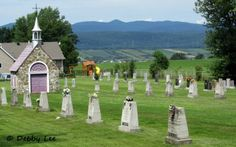 Cemetery and chapel, Ile d'Orleans, Quebec City.