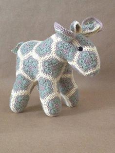 Custom Handmade African Flower Moose by Lineandloops on Etsy