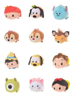 Some more Tsum Tsum Land characters just released in Japan! Characters like Ariel, Pinocchio, Mike, Sulley, and more are available in mini and small size. Tsum Tsum Sets, Tsum Tsums, Pikachu, Japan, Grey, Mini, Fictional Characters, Collection, Ideas