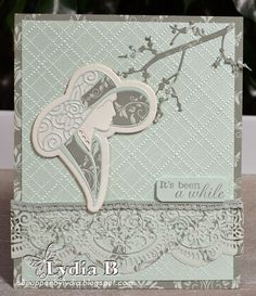 Tattered Lace Dies: It's been a white by Lydia Boode Art Deco Cards, Tattered Lace Cards, Birthday Cards For Women, Friendship Cards, Die Cut Cards, Card Making Inspiration, Greeting Cards Handmade, Color Patterns, I Card