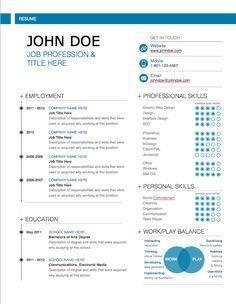 Modern Resume Template - MacTemplates.com