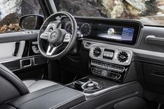 Paying homage to the 1979 Mercedes G-Wagen, the 2019 Mercedes Benz G-Class keeps the same shape and design as the original. While the outside remains the same, the interior receives more room and . Mercedes G Class Suv, Mercedes Benz Clase G, Mercedes Benz G Klasse, New Mercedes, G Class Amg, M Class, Mercedes G Wagon Interior, Mercedez Benz, Looks Vintage