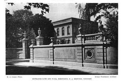 "Beyond the Gilded Age: ""The Elms""; the Berwind Family (Phila) Estate, Newport William Henry Vanderbilt, Cornelius Vanderbilt, Newport County, German Submarines, The Breakers, Grey Dog, Gilded Age, Entrance Gates, Cottage Design"