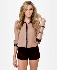 Livin' On the Edge Blush Button-Up Top #luluswildweek
