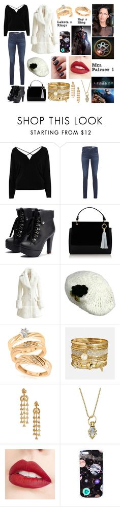 """Mrs. Palmer 1"" by giuly666 on Polyvore featuring moda, River Island, AG Adriano Goldschmied, WithChic, Avenue, Oscar de la Renta, Temple St. Clair, Jouer, Villain e Nikki Strange"