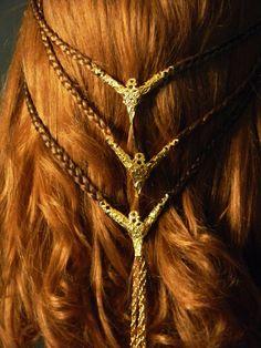 Viking Shieldmaiden Celtic Braid Costume Wig Back by MorganCrone