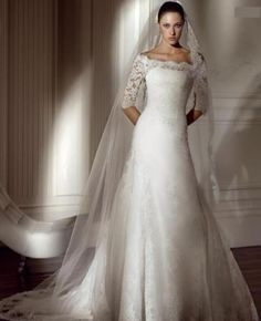 Wedding Dresses With Lace Sleeves!