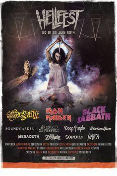Première affiche - Hellfest 2014