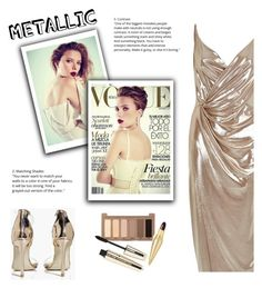 """""""GOLD"""" by melaniemeran ❤ liked on Polyvore featuring River Island, Boohoo, Urban Decay, L'Oréal Paris and Christian Louboutin"""