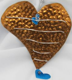 recycled tin heart