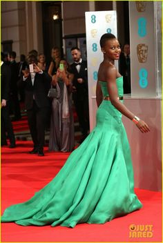 Lupita Nyong'o - BAFTAs 2014 Red Carpet | 2014 BAFTAs, Lupita Nyong'o Photos | Just Jared