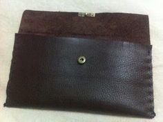 DIY leather purse. Big clutch