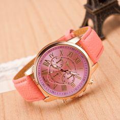 Pink Watch, Leather Watch, Bracelet Watch, Vintage Watch, Retro Watch, Woman Watch, Lady Watch, Girl on Luulla