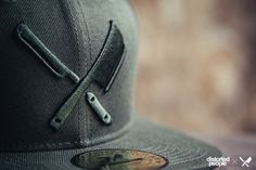 DP Snapbacks: Barber and Butcher Snapback in army green
